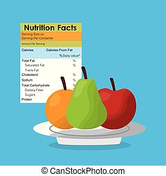 apple pear and orange healthy food nutrition facts label benefits