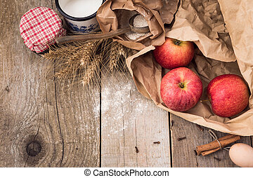 Apple Pie Baking Ingredients