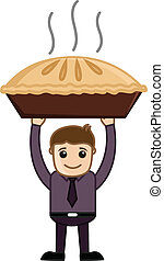 Apple Pie - Cartoon Business - Drawing Art of Cartoon Young...