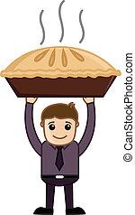 Apple Pie - Cartoon Business - Drawing Art of Cartoon Young...