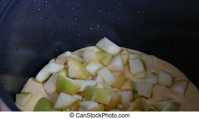 Apple Pie Charlotte Pastry Pour into a Multicooker Pan for...