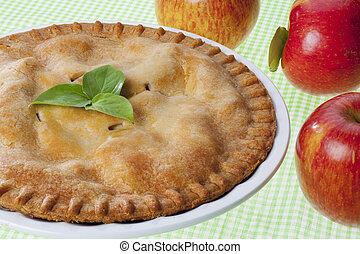 apple pie close up