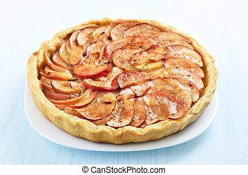 Apple pie, close up view