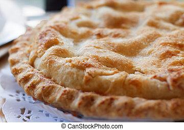apple pie closeup