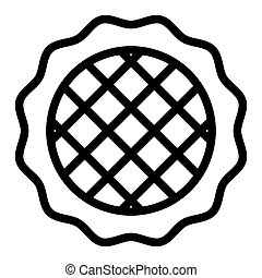 Apple pie line icon. Dessert vector illustration isolated on white. Pastry outline style design, designed for web and app. Eps 10.