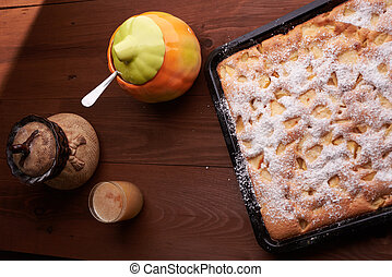 apple pie on the table