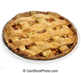 Apple Pie On White Background