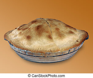 Apple Pie - side view of an apple pie