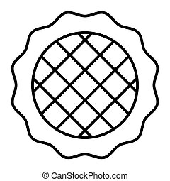 Apple pie thin line icon. Dessert vector illustration isolated on white. Pastry outline style design, designed for web and app. Eps 10.