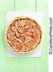 Apple pie, top view