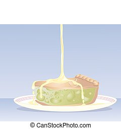 apple pie - an illustration of a delicious piece of apple...
