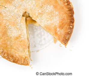 Apple Pie with white background