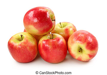 Apple pink lady isolated on white background