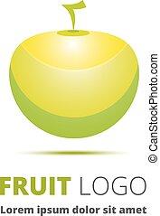 apple., résumé, image, comme, a, logo