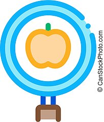 apple research icon vector outline illustration