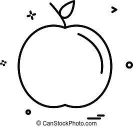 apple school icon design vector