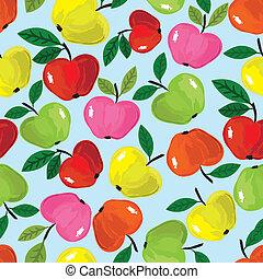 apple seamless pattern