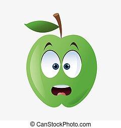 Apple shape cartoon