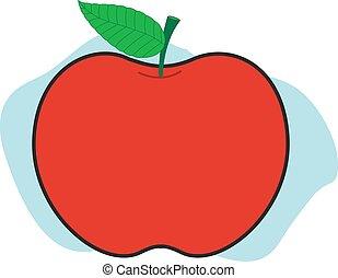 Apple Shape Illustration