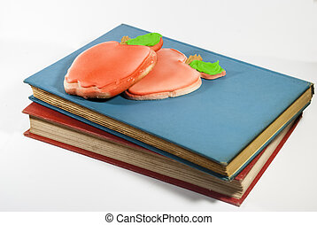 Apple-shaped cookies and books - A variant of an apple for ...