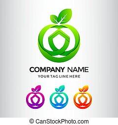 Apple Shiled Logo Design Template