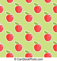 Apple Shiny Fruit Seamless Food Pattern