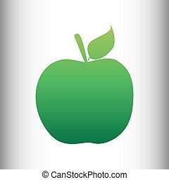 Apple sign. Green gradient icon