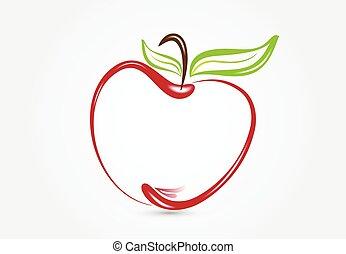 Apple silhouette logo