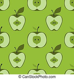 Apple simple pattern illustration