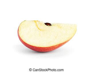 Apple slice on white background