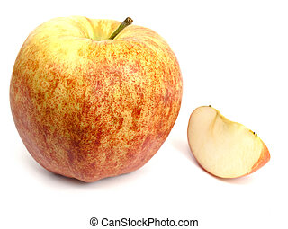 apple - Photo of the apple against the white background