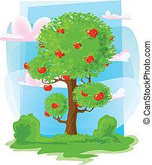 apple-tree and animals