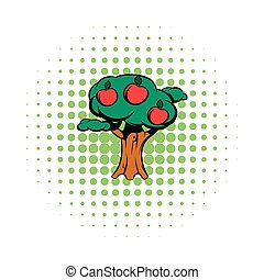 Apple tree comics icon