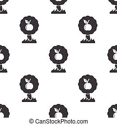 apple tree icon on white background