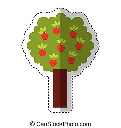 apple tree isolated icon