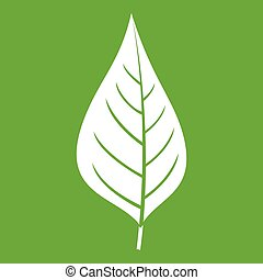 Apple tree leaf icon green