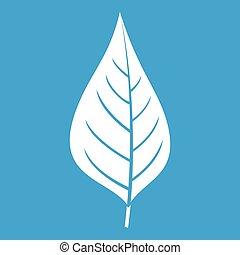 Apple tree leaf icon white