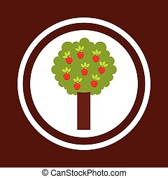 apple tree nature icon