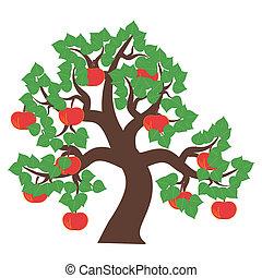 apple tree on white background