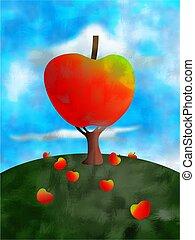 apple tree concept illustration