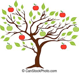 Apple Tree - vector apple tree