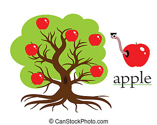 Apple tree,vector