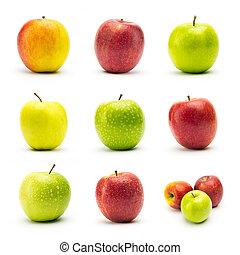 apple varieties with dew drops set