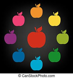 Apple. Vector icon.