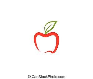 Apple vector icon illustration design