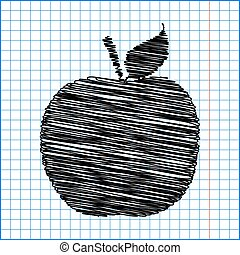 Apple. Vector icon
