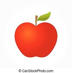 Apple vector illustration - Red apple. Vector illustration