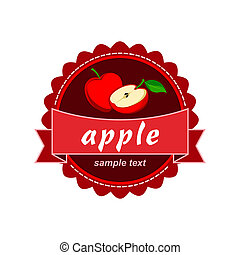 Apple vector label design.