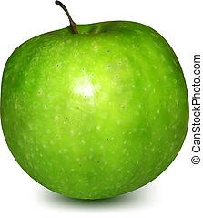 apple., vetorial, verde
