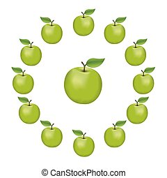 Apple Wheel, Granny Smith